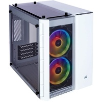 Corsair Crystal 280X RGB PC-Gehäuse (Micro ATX mit gehärtetem Glas), RGB LED, Weiß