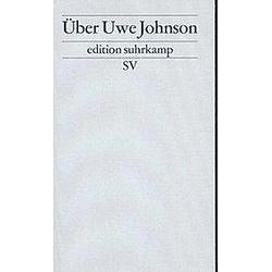 Über Uwe Johnson. Uwe Johnson  - Buch