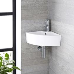Eckwaschbecken 32 cm + Einhebelarmatur Mirage Set für Gäste WCs