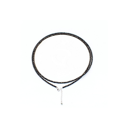 Zeeme Collier 925/- Sterling Silber rhod. Kristalle weiß