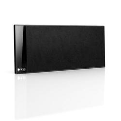 KEF T-101c Center-Lautsprecher (100 W, Center Lautsprecher, Extrem Flach, TV Lautsprecher) schwarz