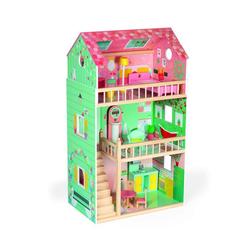 Janod Puppenhaus Puppenhaus Maxi Happy Day mit Möbel (Holz) bunt