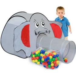 Spielset Kinderspielzelt Jumbo inkl. 200 Bällebadbällen   Spielzelt Spielhaus für Jungen und Mädchen   Kinder-Bällebad-Zelt mit Spielbällen   inkl. Tragetasche