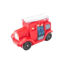 HMF Spardose 489, Feuerwehrauto mit Schlüssel, 8,5 x 11 x 17 cm