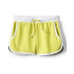 French Terry Shorts, Größe: 122/128, Gelb, Jersey, by Lands' End, Gelb Zitrone - 122/128 - Gelb Zitrone