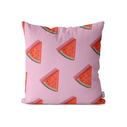 Kissenbezug, VOID (1 Stück), Wassermelone Pink Kissenbezug Melone Früchte Frucht Essen Urlaub Küche Obst 50 cm x 50 cm