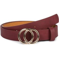styleBREAKER Synthetikgürtel Gürtel mit Ringschnalle Gürtel mit Ringschnalle rot 80cm