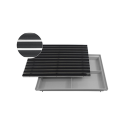 Fußmatte EMCO Eingangsmatte DIPLOMAT Gummi 22mm + ACO Bodenwanne Vario Light Fußmatte Türmatte Abstreifer, Emco, rechteckig, Höhe 75 mm, für Innen- und Außenbereich