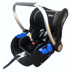 dynamic24 Babyschale, Sparco Kindersitz bis 13kg Baby Auto Sitz Kinderautositz Autositz schwarz blau
