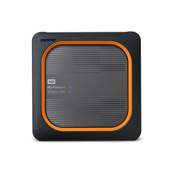 WD My Passport Wireless SSD SD-Karten-Backup auf Knopfdruck grau 2 TB