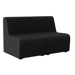 Zweisitzer-sessel rubico, schwarz