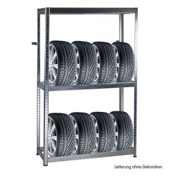 Metall Reifen-Regal 180x120x40 cm Steckregal 8 Reifen