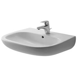 Duravit Waschbecken D-Code, mit Hahnloch und Überlauf