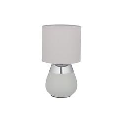 relaxdays Nachttischlampe Nachttischlampe Touch oval