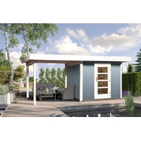 weka Designhaus 172 B 5,30 x 3,00 m grau inkl. Anbau