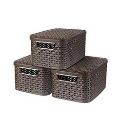 curver STYLE S Aufbewahrungsboxen braun 29,1 x 19,8 x 14,2 cm