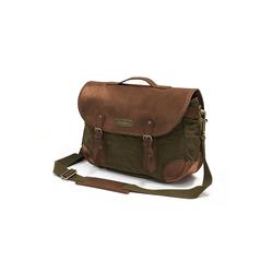 DRAKENSBERG Umhängetasche Satchel Bag, aus Canvas und Leder, 10l