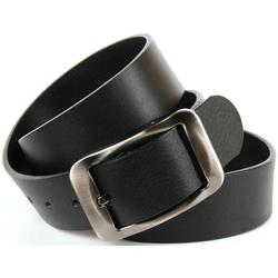 Anthoni Crown Ledergürtel, Hochwertiger Denim-Gürtel schwarz Damen Ledergürtel Gürtel Accessoires