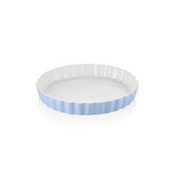 LOVECASA Auflaufform, Porzellan, (1-St), Porzellan Quiche-Backform rund - Ø 27.5 cm x 3.8 cm
