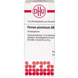 FERRUM PICRINICUM D 6 Globuli 10 g