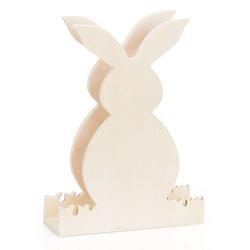 """Serviettenhalter """"Hase"""" aus Holz, 14,5 x 5 x 19,5 cm"""