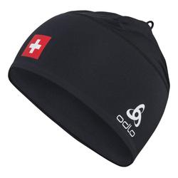 Odlo Polyknit Fan Hat - Langlaufmütze Black/White/Red One Size