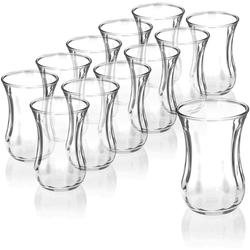 """Pasabahce Teeglas 12er-Set 42021 Türkische Teegläser Teeglas Tee Glas """"Optik"""" 120cc Gläser-Set"""