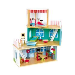 LeNoSa Puppenhaus Holz Puppenhaus Variabel Deluxe