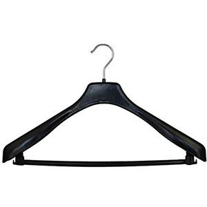 20 x Anzugbügel Sackobügel Kleiderbügel Kunststoff Schwarz Metallkleiderbügel Drahtbügel Hosenbügel rutschfest 41 cm