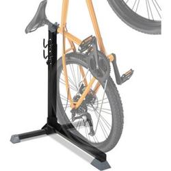HOMCOM Fahrradständer mit 2 Haken schwarz 66 x 56 x (63-73,5) cm (LxBxH)   Universal Fahrradparker Montageständer Radständer