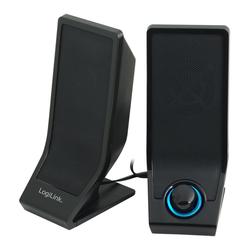 LogiLink Stereo PC-Lautsprecher (NFC, Stereo, Aktivlautsprecher, Stromanschluß per USB - Audio Übertragung per Klinke 3,5mm)