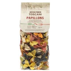 Bunte Papillons Nudeln, verschiedene Farben, 500g - Antichi poderi Toscani