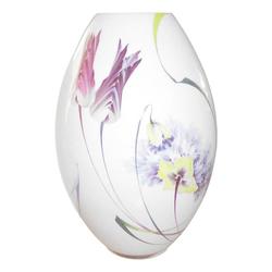 Meissen  'Tulpe und Mohn bunt mit weißem Rand' Vase mit Zertifikat 33 cm Tulpe und Mohn bunt mit weißem Rand 10/103