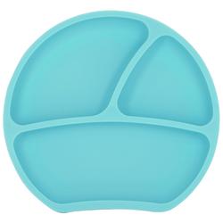 Kindsgut Kindergeschirr-Set (1-tlg), Silikon, Teller, Saug-Geschirr, mint, geprüft, BPA-frei, umweltfreundlich, rutschfest, für Babys und Kleinkinder grün