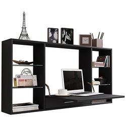 Wandschreibtisch Wandtisch Schreibtisch Wandregal Bürotisch Teala schwarz