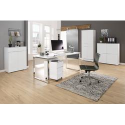 Maja Möbel Büromöbel-Set MAJA YES, (Set 1), in weiß matt / Weißglas matt