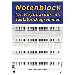 Notenblock für Keyboarder mit Tastatur-Diagrammen - Buch