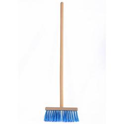 ONDIS24 Kinder-Besen Kinderbesen, mit geschliffenem Holzstiel blau