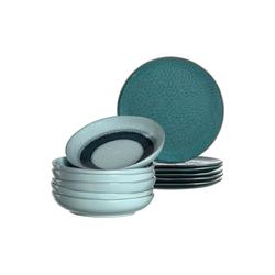 LEONARDO Geschirr-Set MATERA Geschirr Tafelservice blau 12-teilig (12-tlg), Keramik