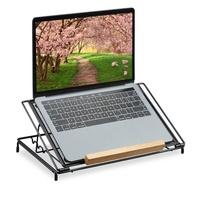 Relaxdays Laptop Ständer 13 Zoll schwarz