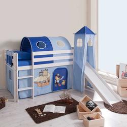 Kinderhochbett mit Rutsche Tunnel