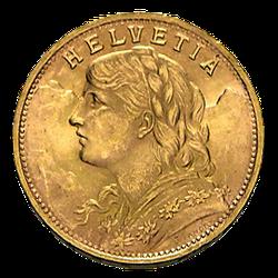 5,81g Gold Vreneli 20 Franken (lagernd Frankfurt)