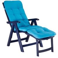 BEST Freizeitmöbel Florida Klappsessel 61 x 114 x 112 cm blau inkl. Auflage
