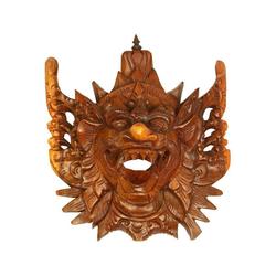 Oriental Galerie Holzbild Maske Wanddeko Garuda Maske Nr. 5, Garuda (1 Stück), Handarbeit