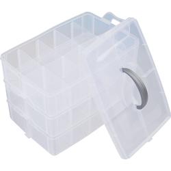 VBS Aufbewahrungsbox, Kunststoff, (4-tlg), mit Griff, 3-tlg