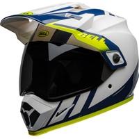 Bell MX-9 Adventure Dash MIPS Helm, weiss-blau-gelb, Größe S