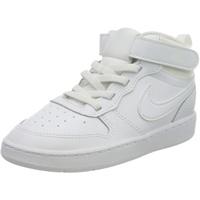 Nike Jungen Unisex Kinder Court Borough Mid 2 (TDV) Sneaker, White/White-White, 21