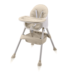 Baby Vivo Design 2in1 Kinderhochstuhl - Oscar in Beige