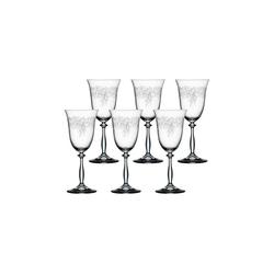 BOHEMIA SELECTION Rotweinglas ROMANCE Rotweinglas 350 ml 6er Set (6-tlg)
