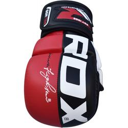 RDX T6 MMA Trainingshandschuhe (Größe: S, Farbe: Rot)